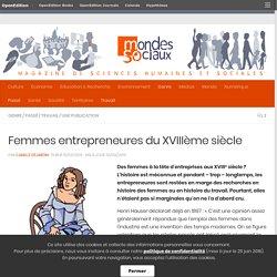 Femmes entrepreneures du XVIIIème siècle