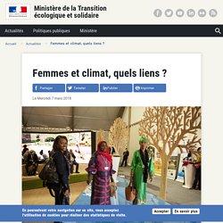 Femmes et climat, quels liens?