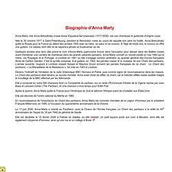 Les Femmes pendant la guerre - Biographie d'Anna Marly