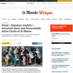 Deux «femmes-mulets» meurent dans une bousculade entre Ceuta et le Maroc