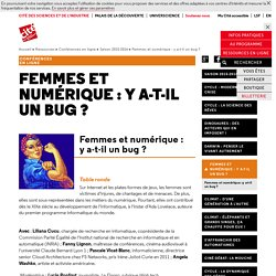 Femmes et numérique : y a-t-il un bug ? - Saison 2015-2016