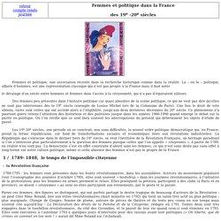 Femmes et politique dans la France