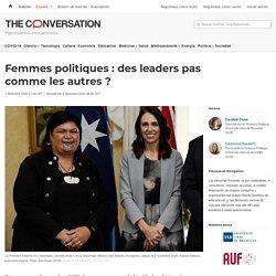 Femmes politiques: desleaders pas comme lesautres?