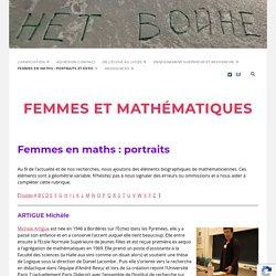 Femmes en maths : portraits – Femmes et Mathématiques