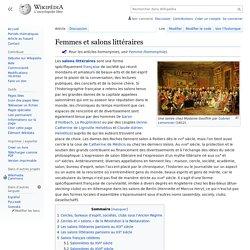 Femmes et salons littéraires
