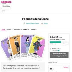 Jeu Femmes de science indiegogo