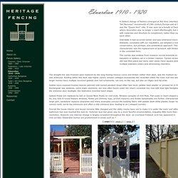 Fence Gallery - Edwardian 1910 - 1920