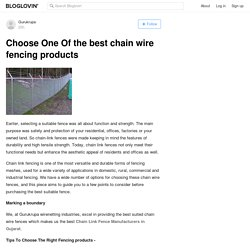 Choose One Of the best chain wire fencing products