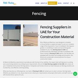 Fencing Suppliers in UAE