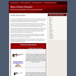 Fender Bass Guitars