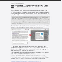Fenêtre modale 100% CSS