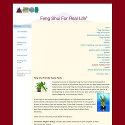 Feng Shui Friendly House Plants