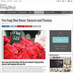 Feng Shui Decorating with Fire Feng Shui Element