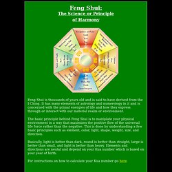 Feng Shui - the science of harmony