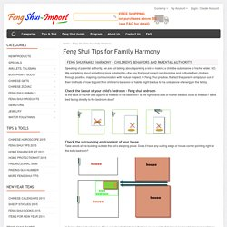Feng Shui Tips for Feng Shui Family Harmony