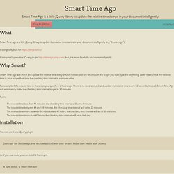 smart-time-ago by pragmaticly