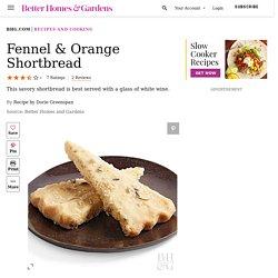 Fennel & Orange Shortbread