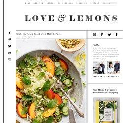 Fennel & Peach Salad with Mint & Pesto Recipe