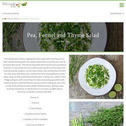 Pea, Fennel and Thyme Salad