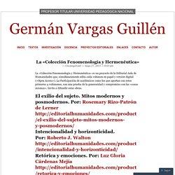 La «Colección Fenomenología y Hermenéutica»