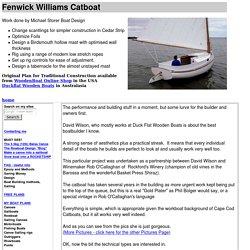 Fenwick Williams Caboat in Cedar Strip - Michael Storer Boat Plans