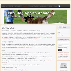 Fenzi Dog Sports Academy - Schedule