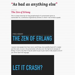 The Zen of Erlang
