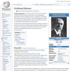 Ferdinand Buisson, Président de 1902 à 1906 (cofondateur de la LDH)