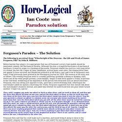 Ferguson's Paradox - the solution