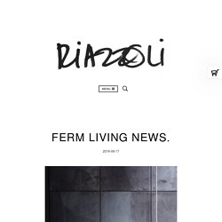 Ferm Living news.