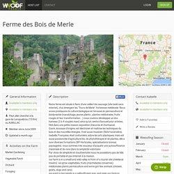 Ferme des Bois de Merle — WWOOF France