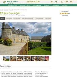 Gîte n°G474 La Ferme De Vains à Picauville : Gîtes de France Manche
