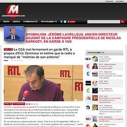 """Le CSA met fermement en garde RTL à propos d'Eric Zemmour et estime que la radio a manqué de """"maîtrise de son antenne"""""""