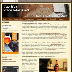 The Mad Fermentationist - Homebrewing Blog: December 2012