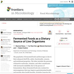 Fermented Foods as a Dietary Source of Live Organisms