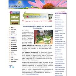 Fermented Foods: Fermented Pickle Recipe
