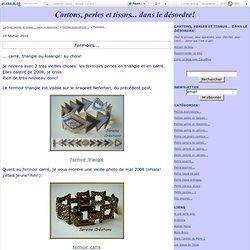 Fermoirs... - Cartons et perles... ou inversément!