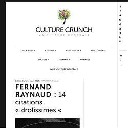 "FERNAND RAYNAUD : 14 citations ""drolissimes """