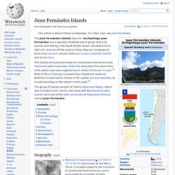 Juan Fernández Islands