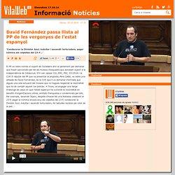 David Fernàndez passa llista al PP de les vergonyes de l'estat espanyol