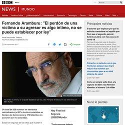 """Fernando Aramburu: """"El perdón de una víctima a su agresor es algo íntimo, no se puede establecer por ley"""""""