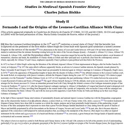 Study 2, Fernando I and the origins of the Leonese-Castilian Alliance with Cluny