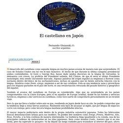 Fernando Olszanski: El castellano en Japón- nº 21 Espéculo