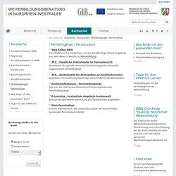 Fernlehrgänge / Fernstudium — Weiterbildungsberatung NRW