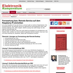 Fernwartung bzw. Remote-Service auf dem Raspberry Pi einrichten