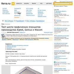 Тест шести графических планшетов производства Aiptek, Genius и Wacom страница 4