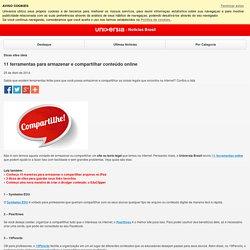 11 ferramentas para armazenar e compartilhar conteúdo online