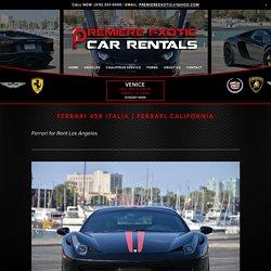 Ferrari for Rent in Los Angeles