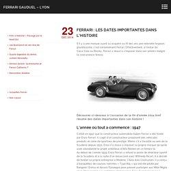 Ferrari : Les dates importantes dans l'histoire - Ferrari Gauduel - Lyon