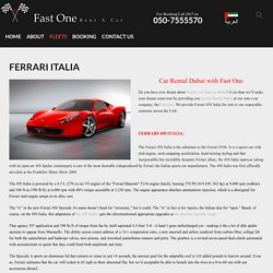 Ferrari Car Rent in Dubai
